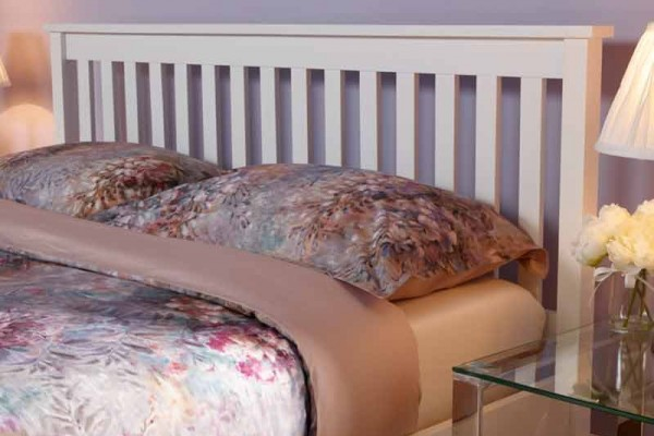 heather white bed frame
