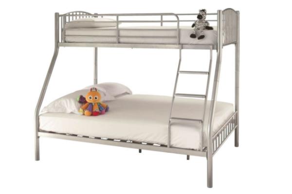 Serene Olso Triple Sleeper Bunk Bed Silver