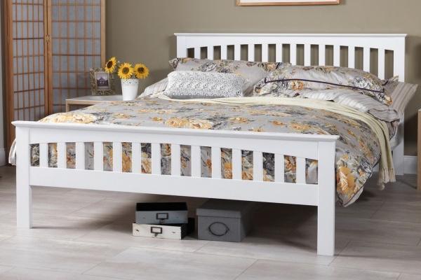 Serene Amelia White Bed Frame