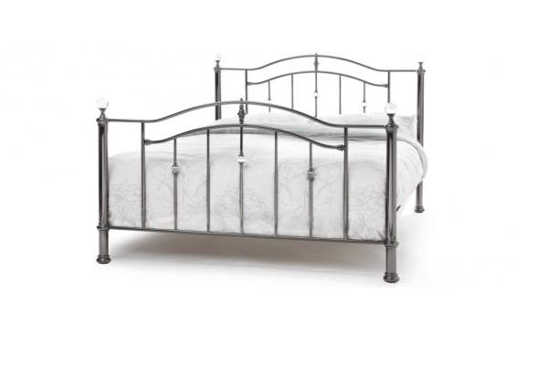 Serene Ashley Black Nickle Bed Frame