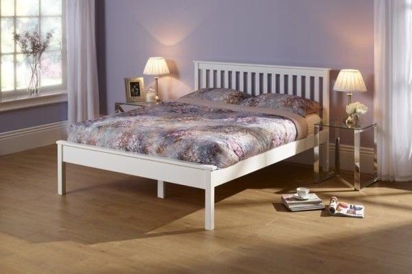 Serene Heather Bed Frame white