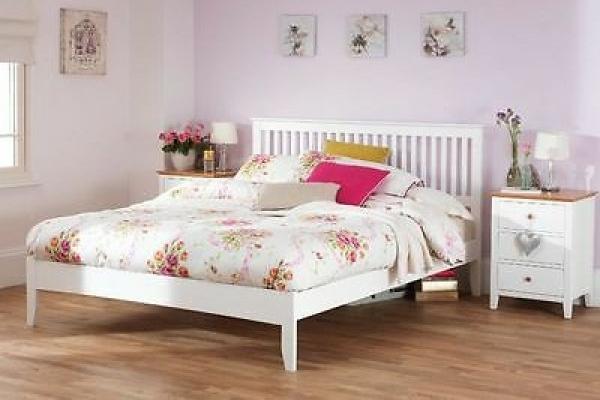 Serene Mya Bed Frame - White