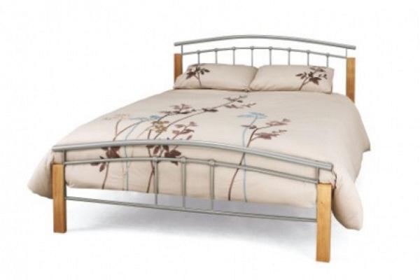 Birlea Tetras Bed Frame Silver / beech