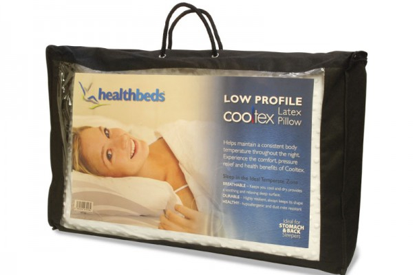 Healthbeds Low Profile Latex Pillow
